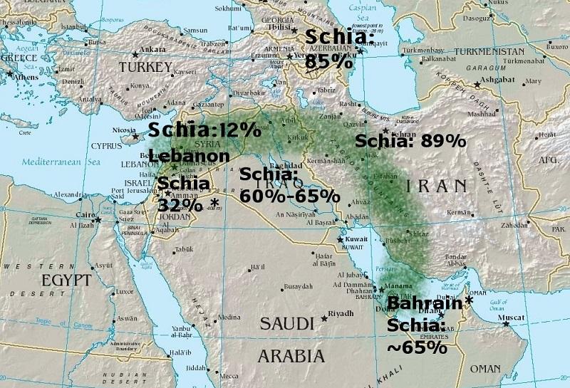 """Polemika: Nakolik se """"blízkovýchodní"""" úsek Hedvábné stezky shoduje s """"Šíitským půlměsícem""""?"""