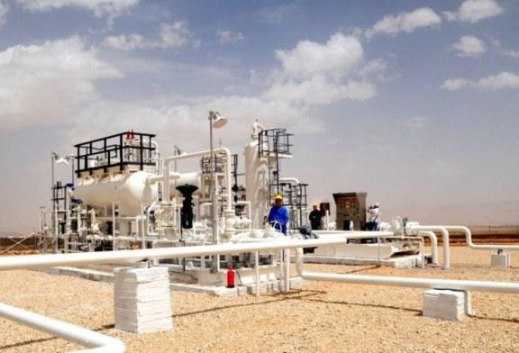 Rozvoj vrtů zemního plynu severně od Damašku